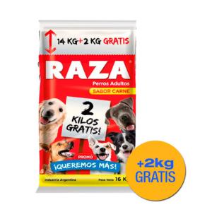 RAZA PERRO CARNE 14 KG + 2 KG